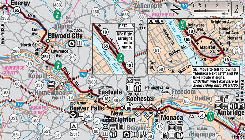 Underground Railroad Bicycle Route - Us bicycle route system map